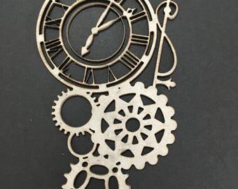 Laser Cut Steam punk Clock