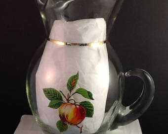 Apple n Pear Pitcher by West Virginia Glass Company