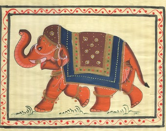 Elephant, Art of Jaipur, Mixed Media