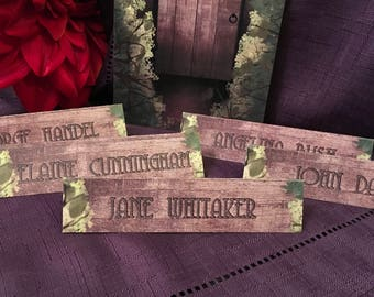 The Secret Garden Style Rustic Wedding and Event Table Name / Place Cards