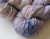 Lilacs Hand Dyed Fingering Weight Yarn for Knitting and Crochet
