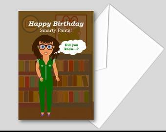 Smarty Pants Birthday Card