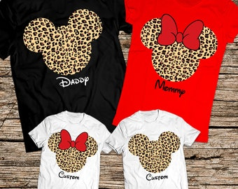 Animal Kingdom family shirts, Animal Kingdom Disney shirt, Leopard print Disney family shirts, Disney animal kingdom family shirts