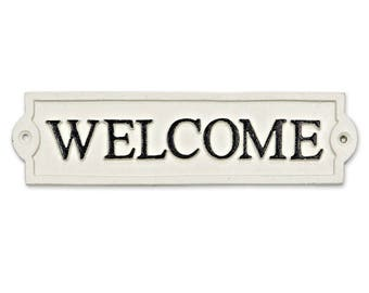 Welcome Plaque, Cast Iron Welcome Sign, Rustic Welcome Sign