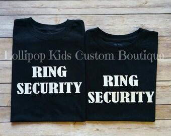 Ring Security short sleeve black shirt