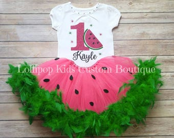 Watermelon Birthday Top/tutu *vinyl*