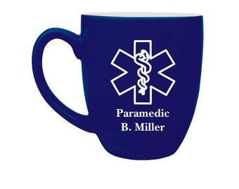 EMT Paramedic // Personalized Engraved Coffee Cup // Coffee Mug // Emergency Medical Technician //  Emergency Medical Services // Gift