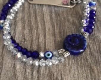 Medical Alert Evil Eye Bracelet
