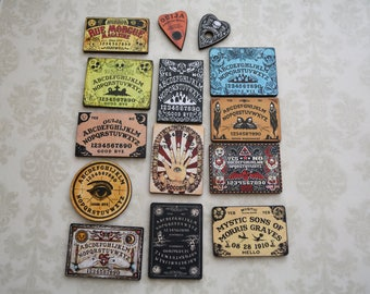 Ouija Boards / Fortune Teller / Palmistry ~ 14 Wood Laser Cuts ~ Art Project Embellishments / Scrapbook / Jewelry Making Supply
