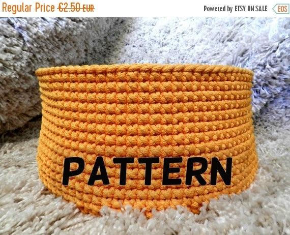 SALE 30 % Crochet basket pattern - crochet pattern - pattern pdf - toy basket pattern - round basket pattern - instant digital download