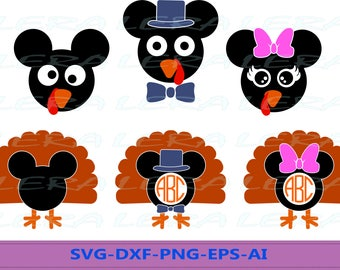 60 % OFF, Mickey Mouse Turkey Monogram Svg, Turkey Svg, Thanksgiving svg,  svg, png, eps, dxf, Turkey Patterns svg, Turkey Clipart