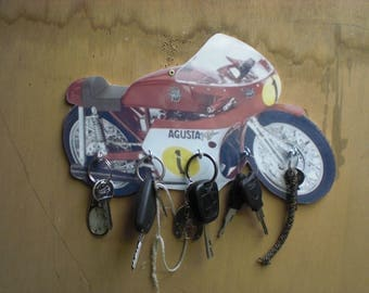 augusta motorcycle wall key / motorcycle augusta wall hanging