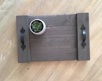 Decorative serving tray, farmhouse serving tray, rustic serving tray, farmhouse decir, serving tray,
