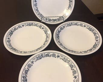 Set of 4 Corelle Old Town Blue Onion Dessert/Bread Plates 6 5/8