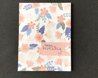 Handmade Birthday Card, Hand Crafted Birthday Card, Hand Stamped Birthday Card, Handmade Greeting Cards