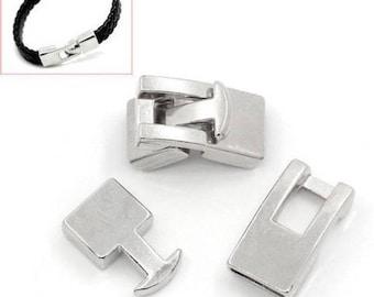 2 sets Toggle clasps silver bracelet color