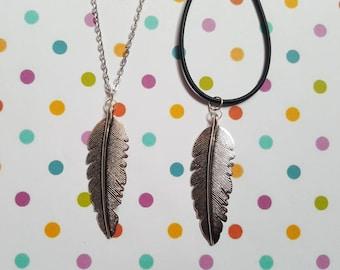 Feather necklace, Feather pendant, Pendant necklace, Feather jewellery, Feather, Memory jewellery, Memorial, Boho necklace, Wings, Birds