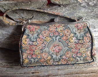 Vintage Tapestry Top Handle Bag by LaMarquise vintage/purse/tapestry/special occasion