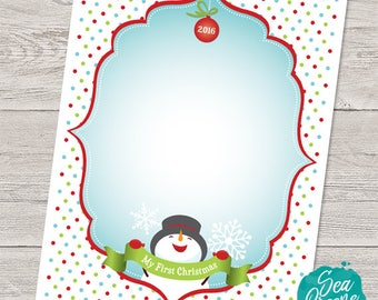 Printable First Christmas Letter to Santa template