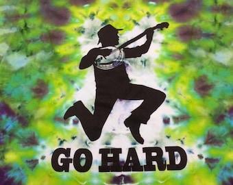 2xl Go Hard banjo ice dyed t shirt