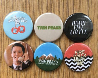 Twin Peaks set of 6 badges