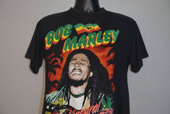 90's RARE Bob Marley Double-Sided - Natural Mystic - Catch A Fire Vintage T-Shirt
