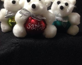 Teddy Bear 3 pack Ornament, Christmas Ornament, Personalized ornament