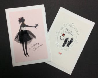 Set of two Christmas cards