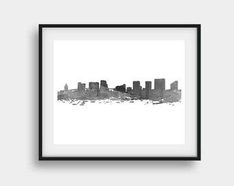 Miami Print, Miami Skyline, Miami Florida, Miami Art, Miami Decor, Miami Poster, Miami Wall Art, Miami Gift, Miami Travel Print, Home Art