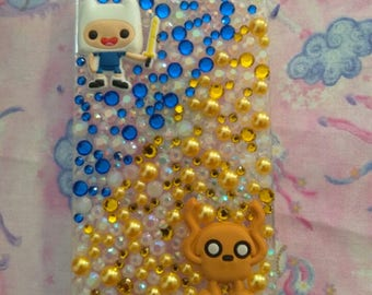 Adventure Time Finn and Jake Rhinestone Case for Iphone 5