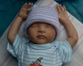 Reborn baby Caleb Boy or Girl | OOAK Hand Painted Doll | Made To Order
