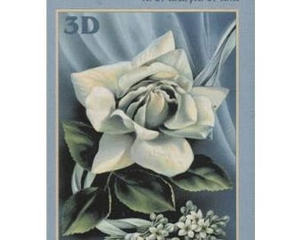 Book sheets of 24 Mini 3D collage, decoupage ROSES patterns