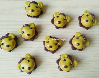 Lion polymer clay favor, baptism favors, baby shower favors, birthday favors, animals favors, safari favors