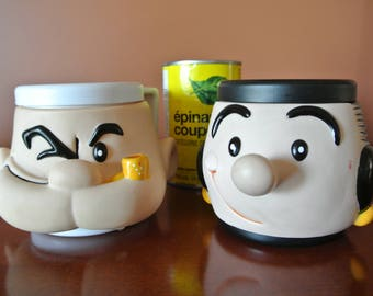 Popeye - Olive Oyl - King Features Syndicate - Vintage cups