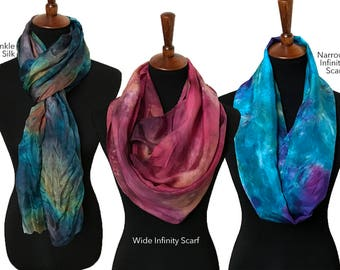 Prophetic - Silk Scarf - Dyed Silk - Gift for Women - Prayer Shawl - Christian Gifts - Custom, Prophetically Hand-Dyed Silk Scarf
