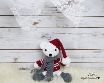 Amigurumi crochet Christmas Polar Bear