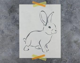 Rabbit Stencil - Reusable DIY Craft Stencils of a Rabbit