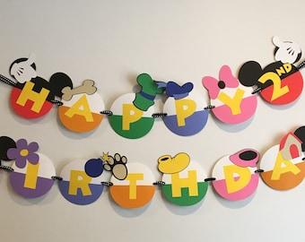 Mickey & Friends Birthday Banner