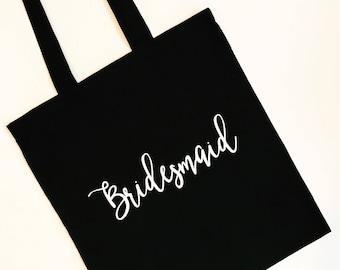 Bridesmaid Tote | Bridal Party Bags | Bridesmaid Gifts | Custom Cotton Tote Bags