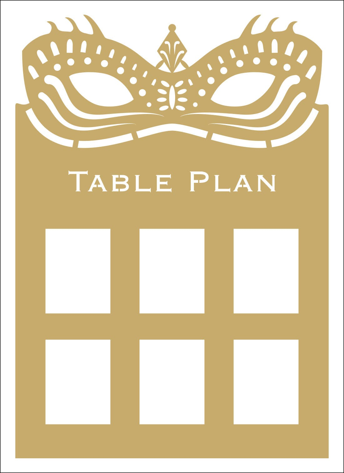 Masquerade Ball Table Plan Seating Mardi Gras