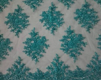 Lace Fabric/Luxury Beaded Lace Fabric