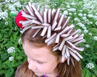 Hedgehog headband / Hedgehog costume / Kids Hedgehog costume / Hedgehog dress up / handmade costume / Halloween costume