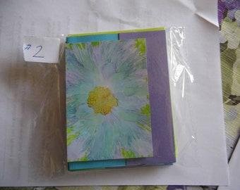 Alcohol Ink Cards made from prints of origional AI paintings. Set of 4 variety pack