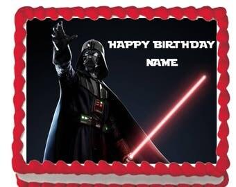 Star Wars Darth Vader Edible Image Cake Cupcake Topper