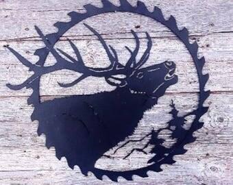 Powder coated elk saw blade
