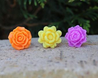Fancy flower rings