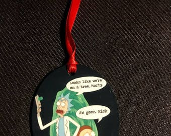 Mr. Meekseeks Rick Morty Inspired Christmas Tree Ornament 2 Sided Can be Personalized NEW style 2