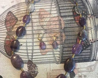 Purple Stone Jewelry Set