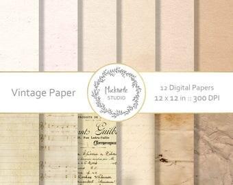 Paper texture digital paper -  paper clipart - Paper digital paper, Scrapbook paper, Vintage Digital Paper - Vintage Paper