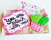 Valentines cookies // love you/love/valentines day gifts// Wedding cookies/valentines gifts valentines day/engagement/wedding/cactus/